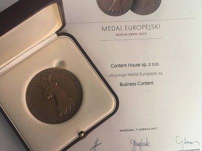 Medal Europejski dla ContentHouse
