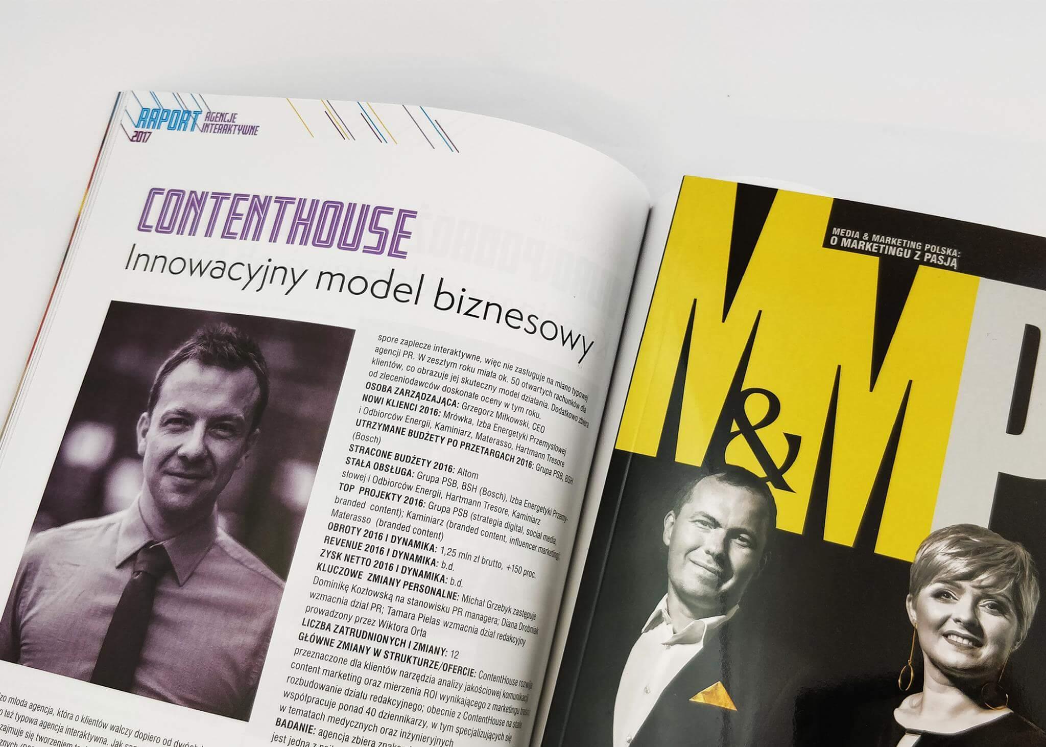 agencja interaktywna roku wyróżnienie innowacyjny model biznesowy contenthouse