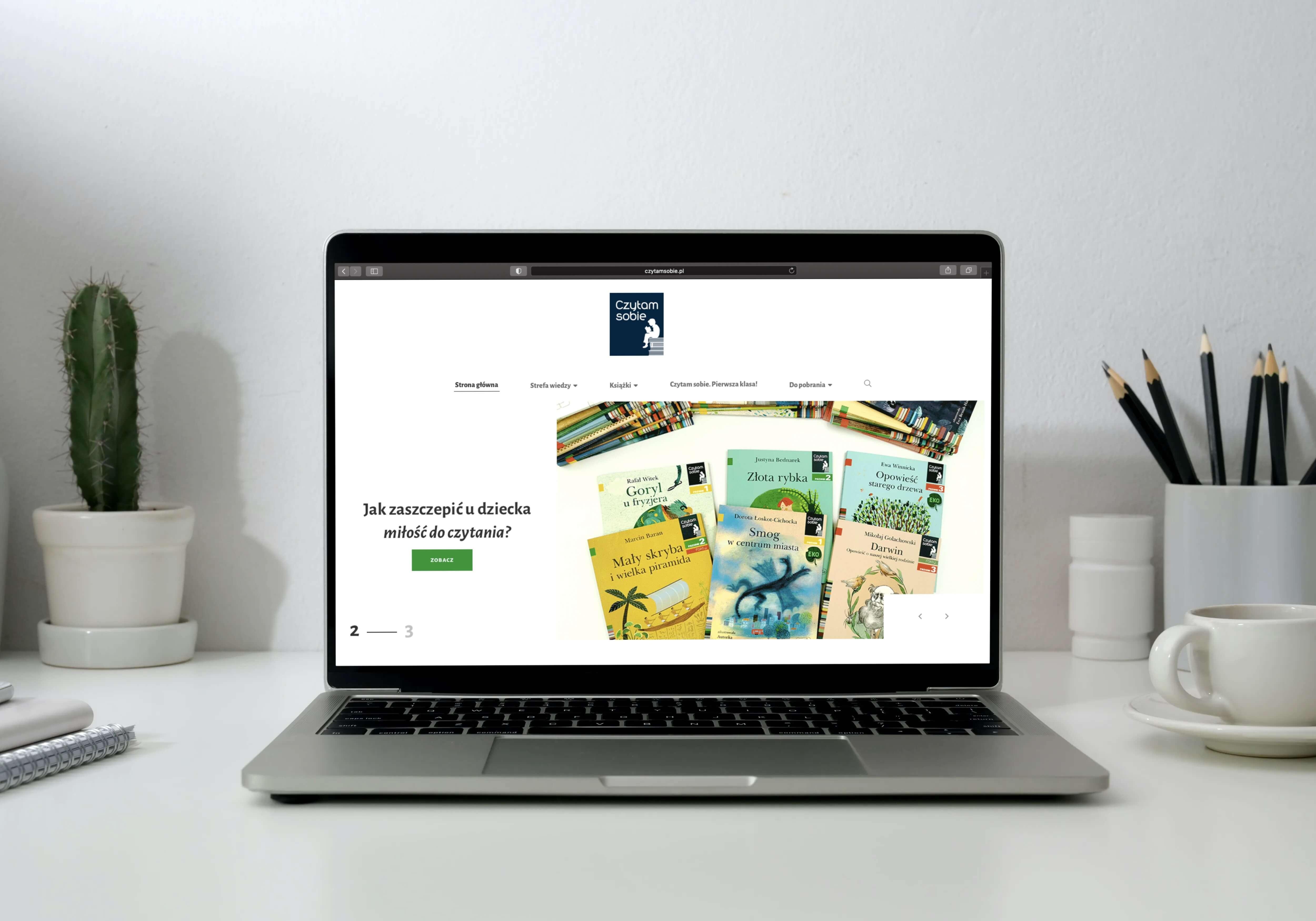 portal czytamsobie.pl na ekranie laptopa