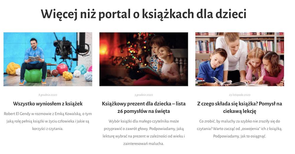 zrzut ekranu ze strony czytamsobie.pl